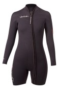 Womens Thermoprene frontzip long sleeve shorty