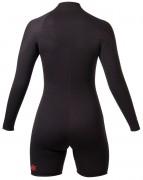 Womens Thermoprene frontzip long sleeve shorty